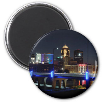 Des Moines Skyline With Orlando Tribute Magnet