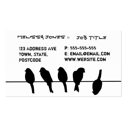 Des oiseaux sur un fil - osez être différent modèle de carte de visite