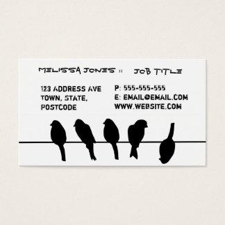 Des oiseaux sur un fil - osez être différent cartes de visite