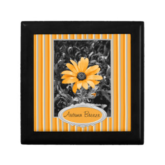 Desaturated Spring Flash African Daisy Photograph Trinket Box