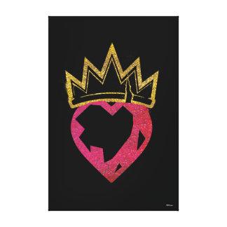 Descendants | Evie | Heart and Crown Logo Canvas Print