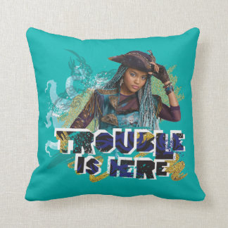 Descendants | Uma | Trouble is Here Throw Pillow