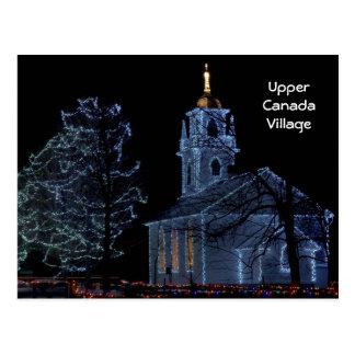 Descendez la nuit - village supérieur du Canada Carte Postale