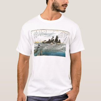 Descending Geese at Haneda, c. 1837-38. JAPAN. T-Shirt