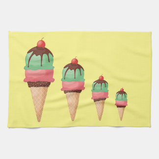 Descending Ice Cream Cones Kitchen Towel