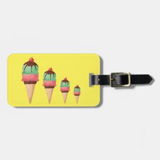 Descending Ice Cream Cones Luggage Tag