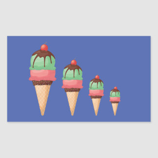 Descending Ice Cream Cones Sticker