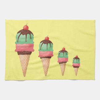 Descending Ice Cream Cones Towel