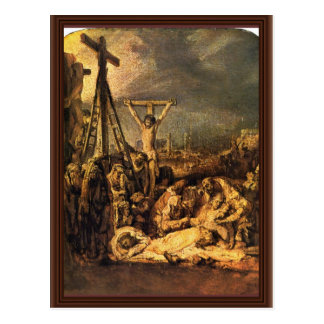 Descent From The Cross By Rembrandt Harmensz. Van Postcard
