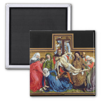 Descent from the Cross, c.1435 Square Magnet