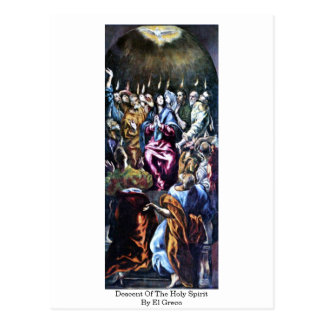 Descent Of The Holy Spirit By El Greco Postcard