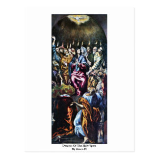 Descent Of The Holy Spirit By Greco El Postcard