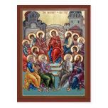 Descent of the Holy Spirit(Pentecost) Prayer Card Postcard