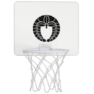 Descent rattan mini basketball hoop