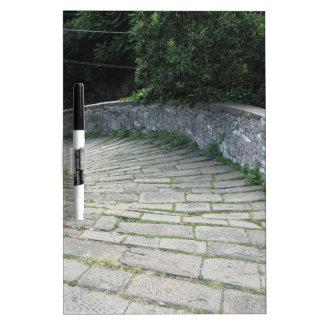 Descent stone walkway of medieval bridge Dry-Erase board