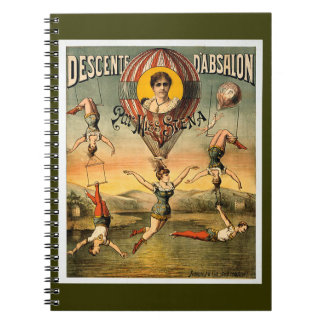 Descente d'Absalon par Miss Stena Vintage Circus Note Book