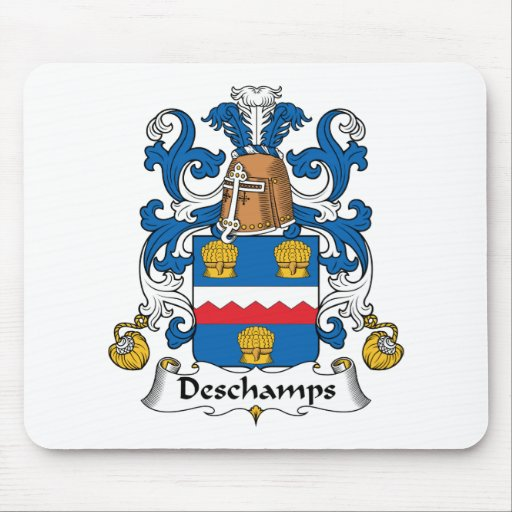Deschamps Family Crest Mouse Pad