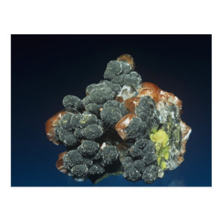 Descloizite on Calcite Postcard