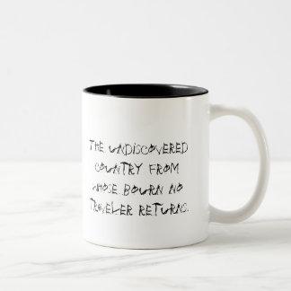 Describe Death Two-Tone Coffee Mug