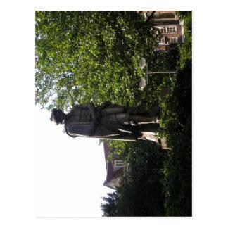 Description statue Rembrandt Amsterdam made by L Post Card
