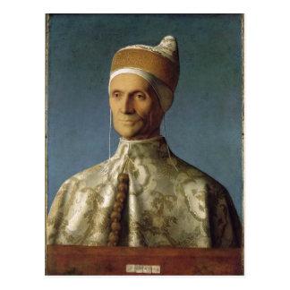 Descrpition Giovanni Bellini Portr?t des Dogen Leo Postcard