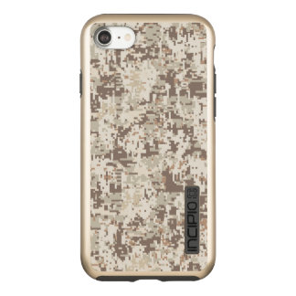 Desert Beige Digital Camouflage Decor on a Incipio DualPro Shine iPhone 8/7 Case