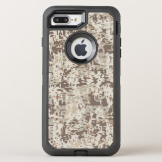 Desert Beige Digital Camouflage Decor on a OtterBox Defender iPhone 8 Plus/7 Plus Case