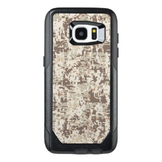 Desert Beige Digital Camouflage Decor on a OtterBox Samsung Galaxy S7 Edge Case