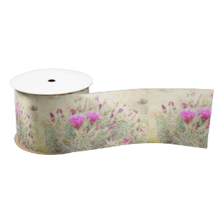 desert blooms satin ribbon