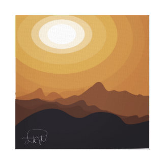 desert brown abstract canvas print
