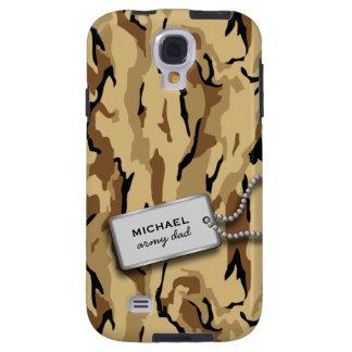Desert Brown and Tan Military Camo Galaxy S4 Case