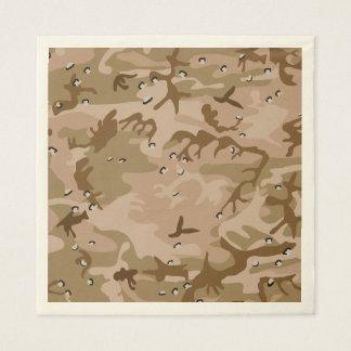 Desert Brown Camouflage. Camo your Disposable Napkin