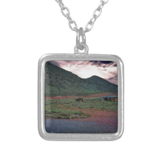 Desert by Grand Canyon National Park Arizona Silver Plated Necklace