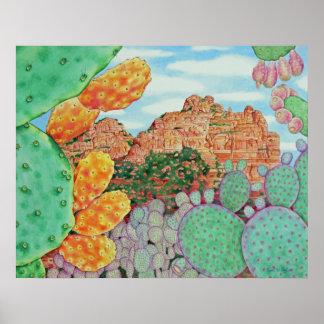 Desert Cacti Poster