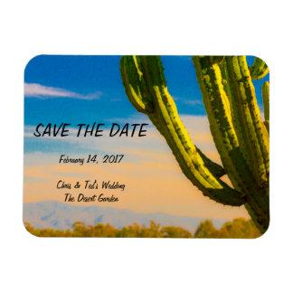 Desert Cactus Blue Sky Wedding Save the Date Rectangular Photo Magnet
