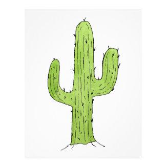 Desert Cactus Design Custom Letterhead