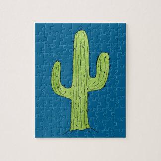 Desert Cactus Design Jigsaw Puzzle