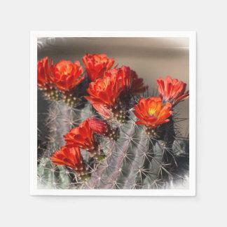 Desert Cactus Flower Paper Napkin