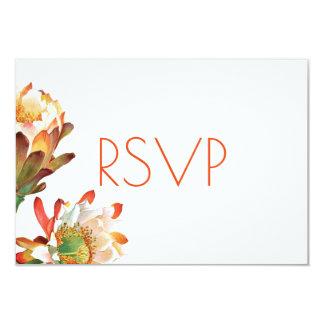 Desert Cactus Flower Wedding RSVP Card