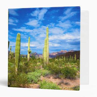Desert cactus landscape, Arizona Vinyl Binders