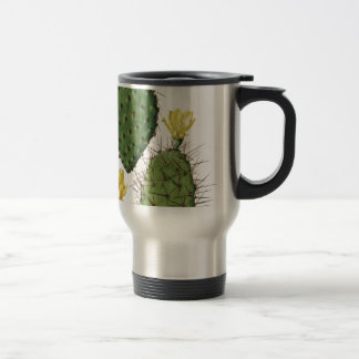 Desert Cactus Plant Pattern Vintage Travel Mug