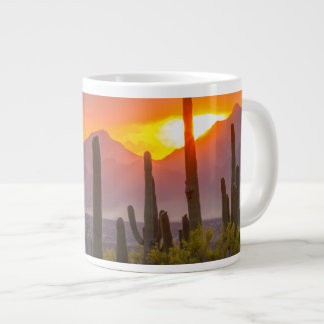 Desert cactus sunset, Arizona Giant Coffee Mug