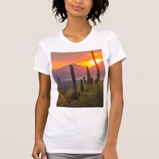 Desert cactus sunset, Arizona T-Shirt