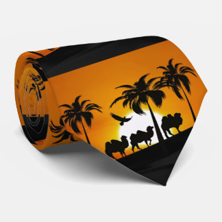 Desert Camels at sunset Tie