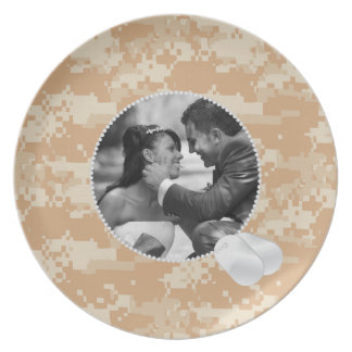 Desert Camo  and Dog Tags Frame Photo Plate