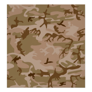 Desert Camo - Brown Camouflage Poster