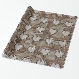 Desert Camo Heart on Camouflage
