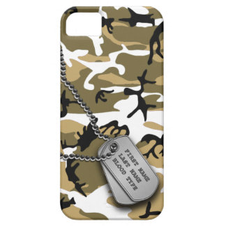 Desert Camo w/ Dog Tags iPhone 5 Case