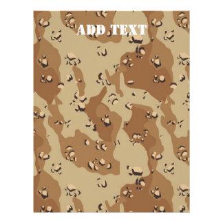Desert Camouflage (1) Customized Letterhead