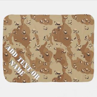 Desert Camouflage (1) Military Background Receiving Blanket